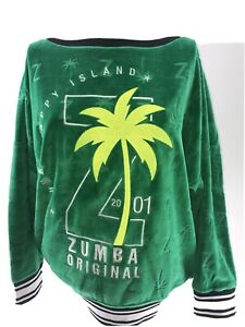 Zumba pullover long sleeve green size Large