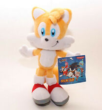 "SEGA Sonic The Hedgehog Tails 8.5"" YELLOW Plush Doll Stuffed Toy Rare X'mas Gift"