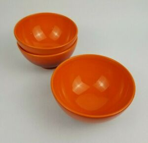 Waechtersbach Germany Orange Red Magma Bowls 5.75 Diameter Lot of 3