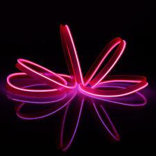 Glow LED Light String Strip Rope El Wire Car Dance Party + 3V/12V/USB Controller