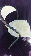 3 ancienne CHAISES  fauteuils,métal bois ,vintage,atelier,loft,usine,bistrot