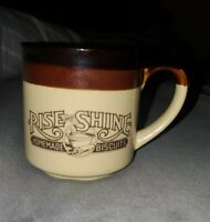 VINTAGE Hardees Coffee Mug Cup Rise and Shine Homemade Biscuits 1986
