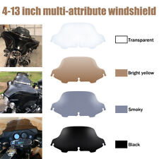 "4.5"" 6"" 7"" 8"" 9"" 10"" Wave Windshield Windscreen For Harley Touring FLHX FLHT USA"
