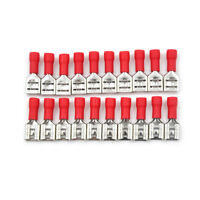 20Pcs 6.3mm Insulated Female Spade Terminal Crimp Wire Connector 22-18AWG M&C