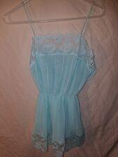 Annique Rosa Puleo Szule Light Blue VINTAGE Lace Dress Women Size Small S