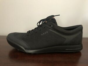 ECCO Street Retro Hybrid Hydromax Men's Size 10-10.5 (EU 44) Golf Shoes Black