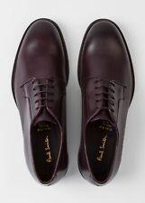 Paul Smith Hombre Zapatos De Viaje De Cuero Chester Berenjena UK 10.5 Nuevo en Caja £ 375