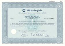 Württembergische Lebensversicherung AG SerieD 50DM August 1994