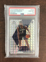 2019 Mosaic ZION WILLIAMSON Silver Wave RC #209 Rookie PSA 10 GEM MINT Prizm📈📈