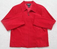 Red Jacket Coat Womens Briggs Petite Medium Zip Up Solid Polyester Spandex Woman