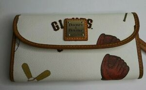 Dooney And Bourke Rare White/Ivory SF Giants Clutch Wallet