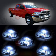 5x Top Cab Roof White LED Lights + Smoke Lens Marker Running Lamps Cover case