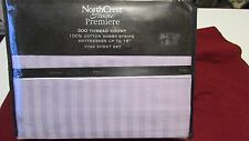 Nip Premiere 300 Thread All Cotton Dobby Stripe King Sheet Set By Northcrest