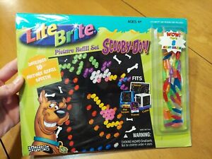 Lite Brite Picture Refill Set Scooby Doo Includes 10 Sheets Pegs 8 great colors