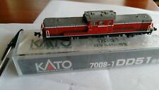 Escala N - Kato Locomotora Diésel DD51 Winterversion Rojo 7008-1 Neu