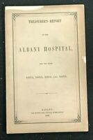 TREASURER'S REPORT for the ALBANY HOSPITAL - 1855 to 1855