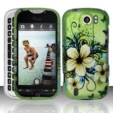 Design Crystal Hard Case for HTC myTouch 4G Slide - Green Hawaiian Flower