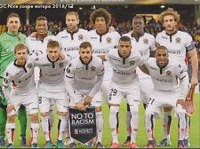 FOOTBALL CP  EQUIPE DE OGC  NICE DU 20/10/2016