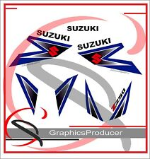 Suzuki LTZ250 Sticker Decals Stickers  Replica Full Set Graphics White Model