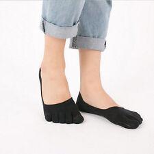 bonne affaire 1 paire noir femme décontracté sport coton cinq doigt chausettes