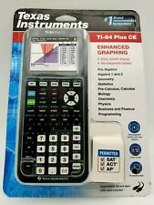 Texas Instruments TI-84 Plus CE Graphing Calculator - Black - Rechargeable! NEW!