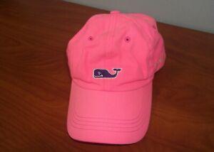 Vineyard Vines Marthas Vineyard Whale Logo Womens Pink Cotton Hat