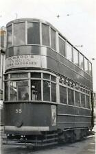 Tram RP postcard size old photo card Leigh on Sea 1941 Southend no 55