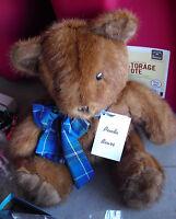 "RARE Artist Bear Recycled Fur Penda Bear from Canada #906 12"" Tall"