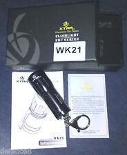 Set Completo XTAR WK21 Mini Torcia LED da 500 Lumen in 7 cm. 5 Modalità di luce.