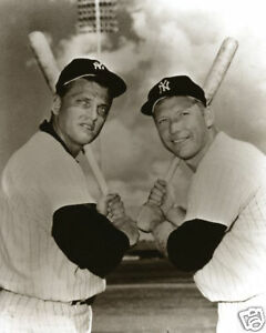 Home Run Kings Mickey Mantle & Roger Maris Posing With Their Bats in 1961 LOOK