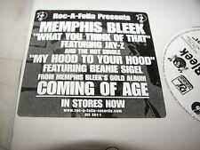 "MEMPHIS BLEEK WHAT YOU THINK OF THAT JAY-Z 12"" Single NM Roc-a-Fella 1999 PROMO"