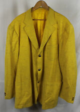 Vintage Versace Classic V2 Men's Yellow Blazer Jacket Sz 46L