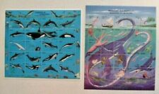 Lot#240 Palau #289 Dolphins & #318 Monsters Fish Stamp sheets