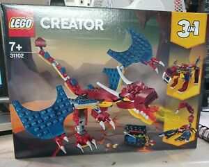 LEGO Creator Set 31102 Fore Dragon 3-in-1 Build Scorpion -  New Flawed Box