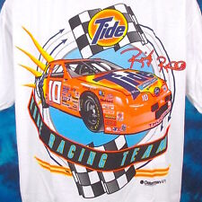 NOS vintage 90s RICKY RUDD NASCAR TIDE RACING TEAM T-Shirt XL thunderbird thin