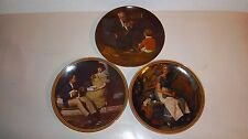 Norman Rockwell Knowles Collector Plates (Lot of 3)