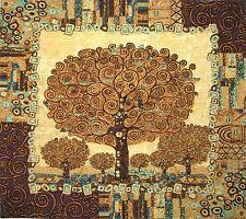 "NEW GUSTAV KLIMT TREES OF LIFE V2 28"" 70CM FULLY LINED TAPESTRY WALL HANGING"