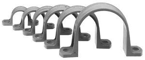 "25 pcs - 2"" Conduit PVC Pipe Strap, 2 Hole, Grey, Made USA. Clamp, Hanger, Strap"