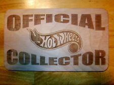 Official Hot Wheels Collector Wood Sign -Man Cave Red Line Club RLC tesla spacex