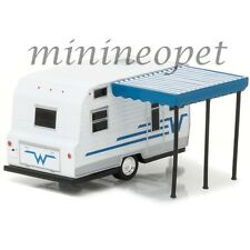Greenlight 34020 C Hitched Homes 1964 Winnebago 216 Trailer 1/64 White / Blue