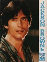 JACKSON BROWNE 1986 LIVES IN THE BALANCE TOUR CONCERT PROGRAM BOOK / VG 2 EX