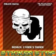 SKULL (PIRATE) MYLAR STENCIL (Airbrush,Craft, Spray, Re-usable) SKULL-P01