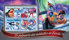 Togo 2016 MNH Sochi Winter Games Medal Winners 4v M/S Skiing Olympics Stamps
