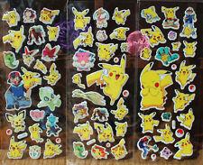 3pcs Famous Pokemon Stickers Pikachu Pocket Monster Scrapbooking Sticker Sheet