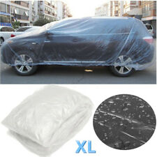 Universal Clear Plastic Temporary Disposable Car Cover Rain Dust Protection