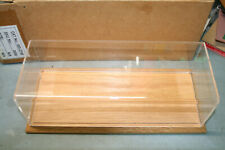Clear Plastic Display with Wooden Base