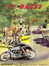 TT Races June 1953 Vintage Motorbike, Retro Metal Aluminium wall Sign