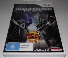 Transformers The Game Nintendo Wii PAL *No Manual* Wii U Compatible