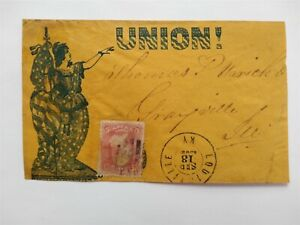 Civil War: Louisville, KY 1862 #65 UNION! Patriotic Cover to Grayville, Illinois