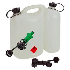 Kombikanister 5,5+3 Liter PLUS Einfüllsystem GRÜN & Ausgiesser Doppelkanister Öl